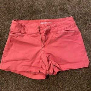 Old navy salmon colored pixie shorts